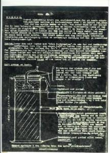 """""""Kogebogen"""" blev desværre stjålet fra udstillingsmontren på Det kongelige Bibliotek den 22.10.1995 og kan derfor ikke afbildes her.Men her er en side fra kogebogen."""