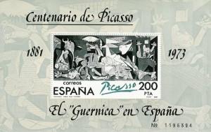 Spansk frimærke udgivet i 1981 i det år hvor Picasso ville være blevet 100 år.