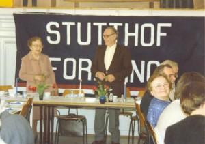 Ragnhild Andersen og Helge Kierulf (formand for Stutthofforningen) begge tidligere Stutthoffanger